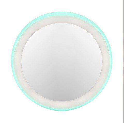 Portable  LED Makeup Mirror Round Travel Pocket Cosmetic Mirrors - PINK