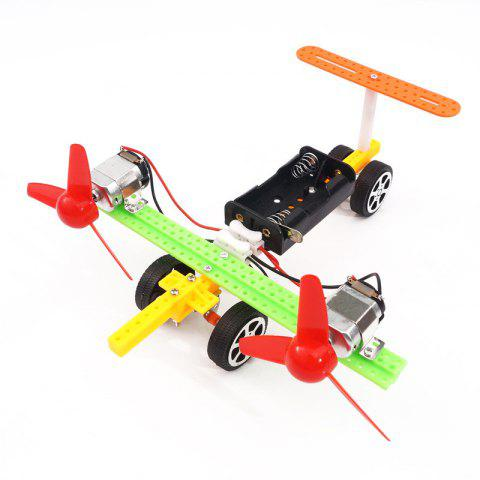 Bricolage bimoteur Taxiing Aircraft Children Science Education Toy - multicolor