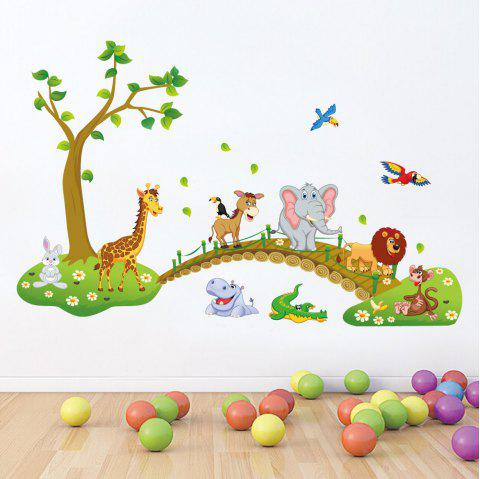 Forest Animals PVC Wall Sticker Cartoon for Kids Rooms Decor Bedroom - multicolor 24 X 36 INCH