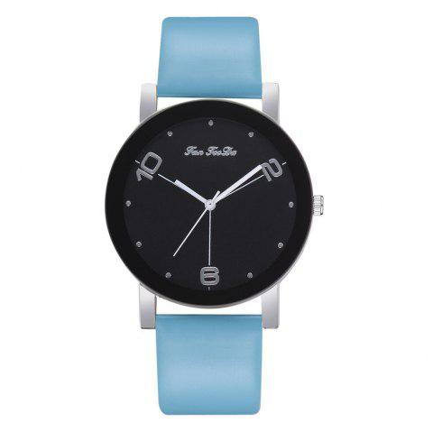 The New Contracted Temperament Lady Quartz Watch Black Picture Frame Business - LIGHT SKY BLUE
