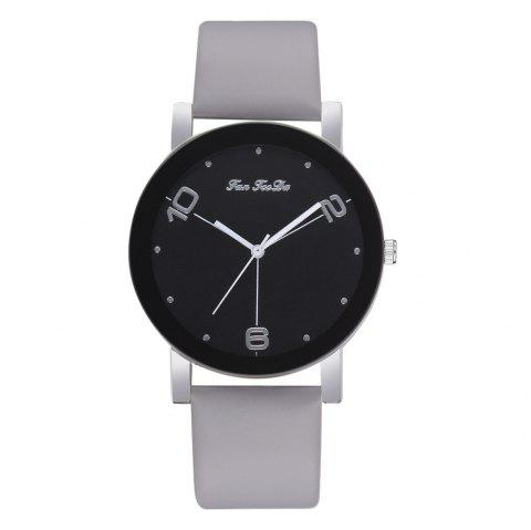 The New Contracted Temperament Lady Quartz Watch Black Picture Frame Business - GRAY CLOUD