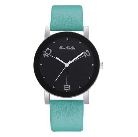 The New Contracted Temperament Lady Quartz Watch Black Picture Frame Business - MEDIUM TURQUOISE