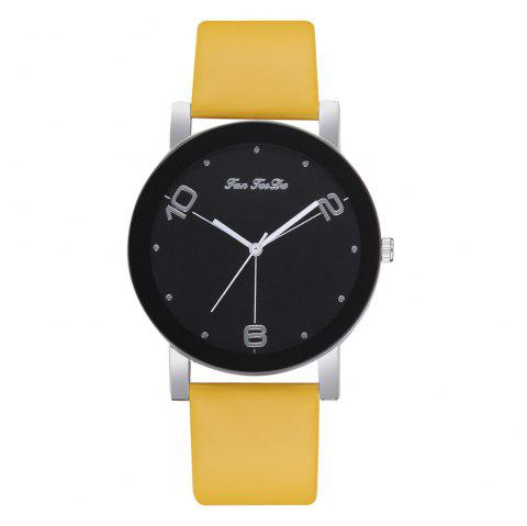 The New Contracted Temperament Lady Quartz Watch Black Picture Frame Business - GOLDEN BROWN