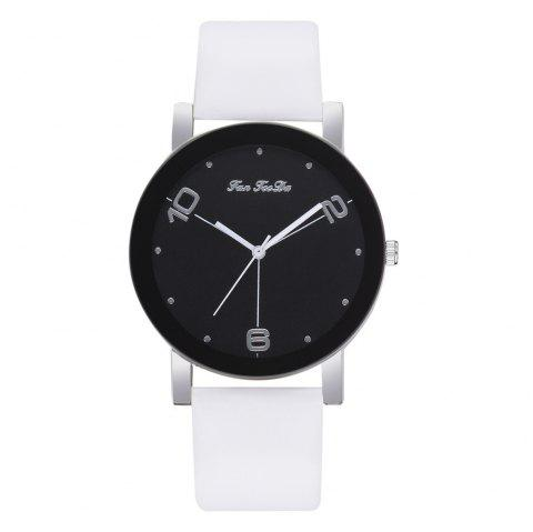 The New Contracted Temperament Lady Quartz Watch Black Picture Frame Business - WHITE