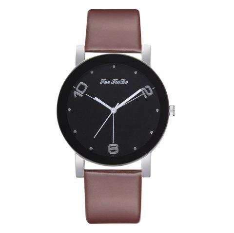 The New Contracted Temperament Lady Quartz Watch Black Picture Frame Business - DEEP COFFEE