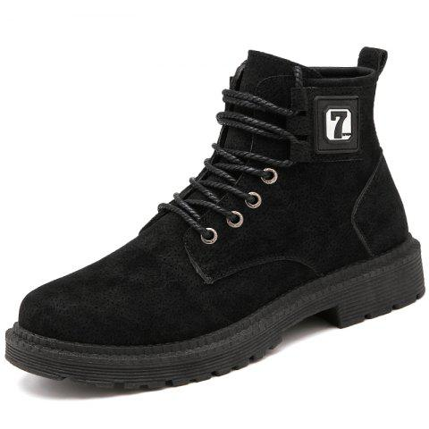 Fashion High Help 7 Word Boots - BLACK EU 42