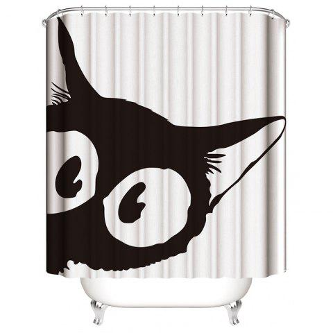 Personality 3D Digital Printing Polyester Waterproof Shower Curtain - multicolor A W71 X L71 INCH