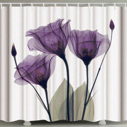3D Abstract Digital Printing Waterproof Polyester Shower Curtain - multicolor B W71 X L71 INCH