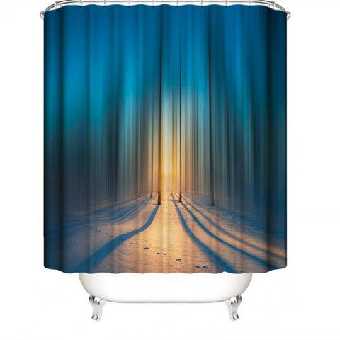 3D Abstract Digital Printing Waterproof Polyester Shower Curtain - multicolor C W71 X L71 INCH