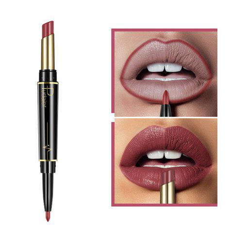 Pudaier Matte Lipstick Wateproof Double Ended Long Lasting Lipstick Lip Makeup - 006