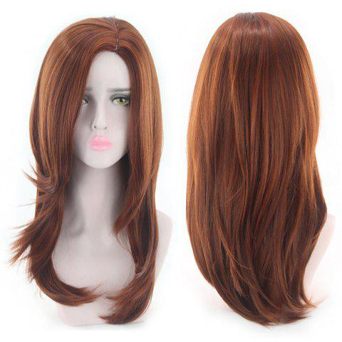 Long Curly Hair and Fluffy Wigs From Europe and America - CHESTNUT RED 1 SET