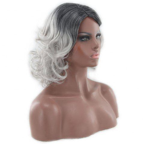 American and European Women Wigs Are Dyed in Shades of Black and Gray - GRAY CLOUD 1 SET