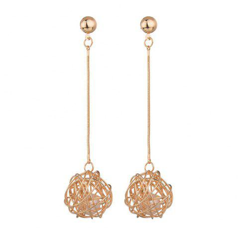Fashion Simple Long Pendant Earrings - Or 1 PAIR