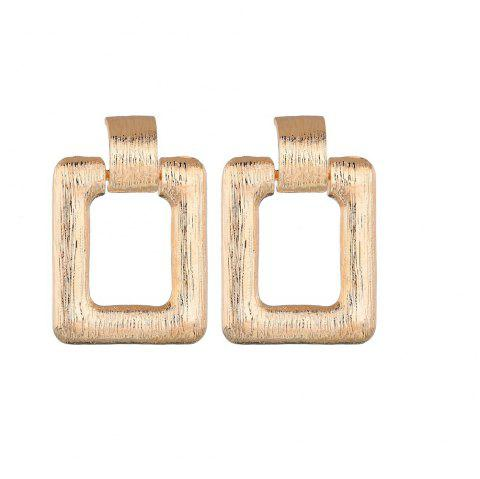 Fashion Simple Geometric Alloy Square Earrings - GOLD 1 PAIR