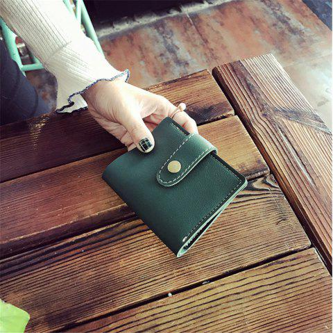2018 New Winter Models Women'S Short Wallet Seventy Percent Off Card Pack - GREEN 11CM*9CM*2CM
