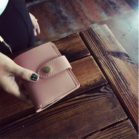 2018 New Winter Models Women'S Short Wallet Seventy Percent Off Card Pack - PINK 11CM*9CM*2CM