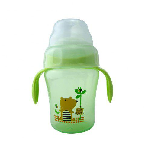 Baby Sippy Cup 240ML Cartoon Animal Double Handle Training Cup Drinking - GREEN