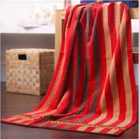 Pure Cotton Soft Absorbent Towel Adult Thickening Large Bath Towel - RED 1PC