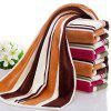 Cotton Absorbent Soft Towel Multicolor Striped Thickening Wash Towel - BROWN 1PC