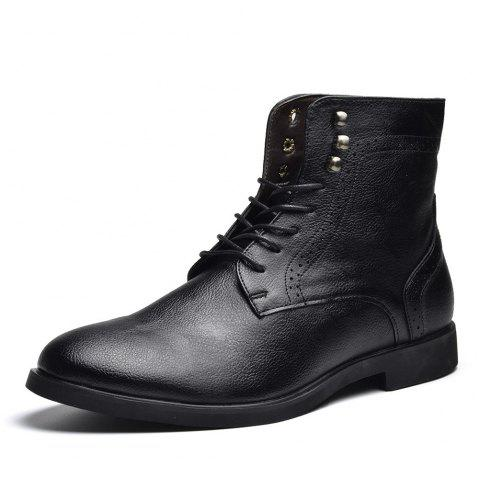 COSIDRAM Men Wear Autumn and Winter Ankle Boots - BLACK EU 45