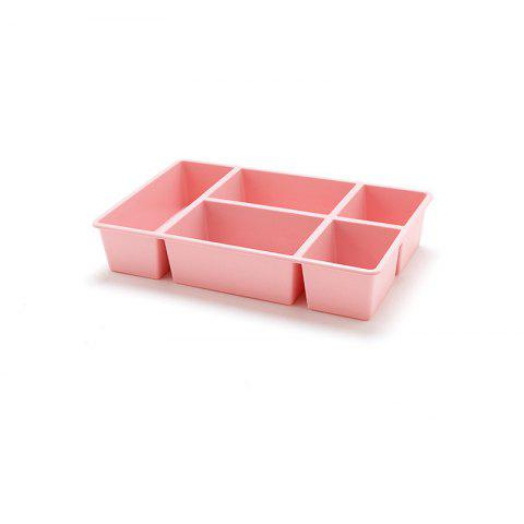 Multi-Grid Drawers Sorting Box Skin Care Products Cosmetic Case - PINK REGULAR