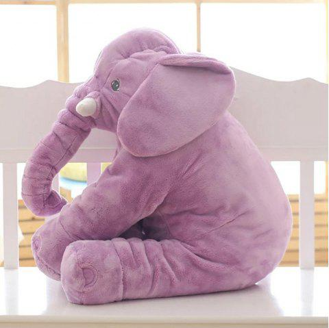 Elephant Doll Plush Toys Pillow Cartoon Dolls Sleep with Your Baby - MEDIUM ORCHID 40CM300G