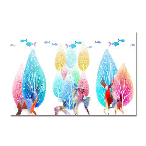 DYC Color Cartoon Scenery Print Art - multicolor