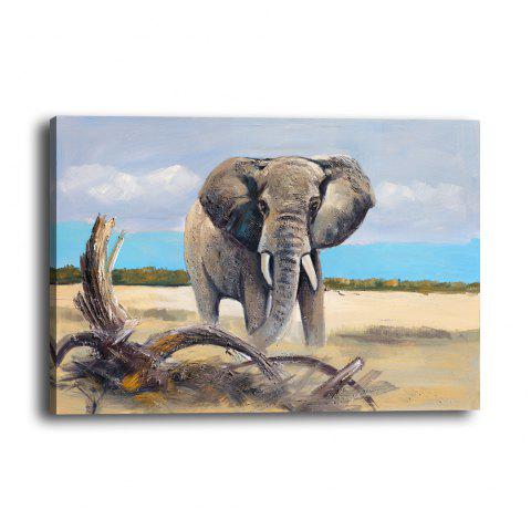 Simulation Oil Painting Animal Elephant Hotel Living Room Porch Background Print - multicolor 30CMX40CM