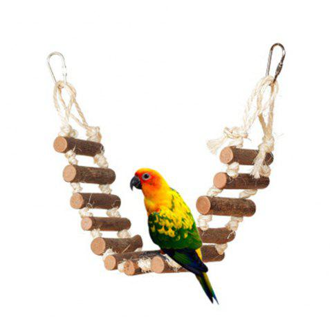 Naturals Rope Ladder Bird Toy - multicolor A