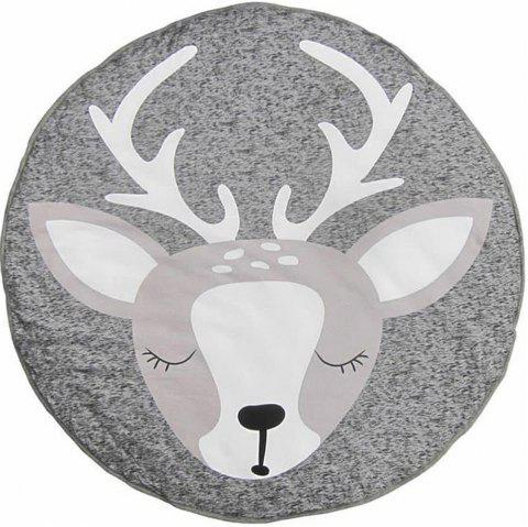 Children'S Room Crawling Mat Christmas Moose Cotton Game Mat Shooting Props - LIGHT GRAY 1PC
