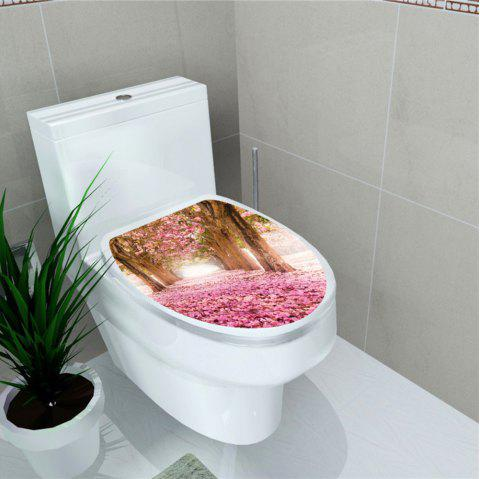 Autocollant de toilette Animal World Flamingo Autocollant de décoration pour la maison - multicolor M 32*39