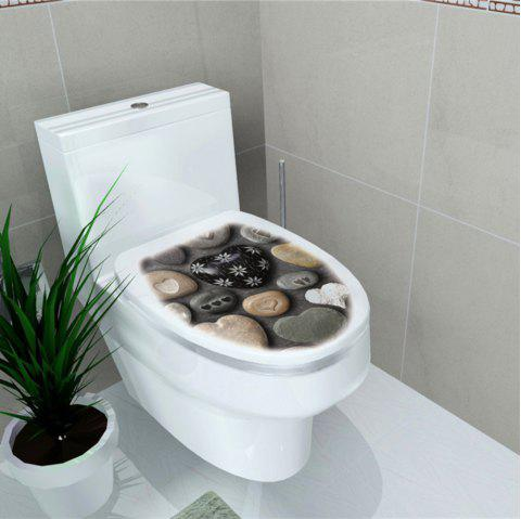 Toilet Sticker Animal World Flamingo Toilet Sticker Home Decoration Stickers - multicolor H 32*39