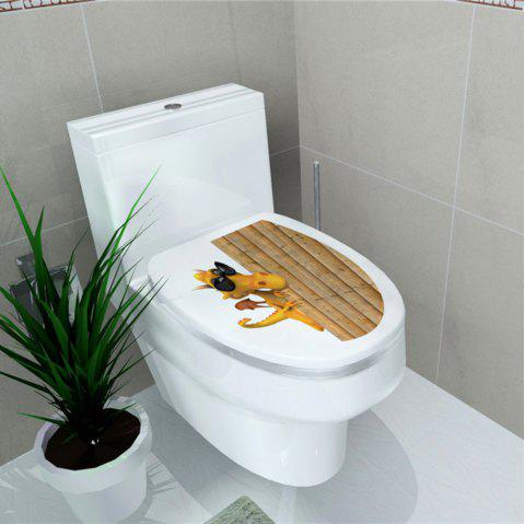Autocollant de toilette Animal World Flamingo Autocollant de décoration pour la maison - multicolor C 32*39