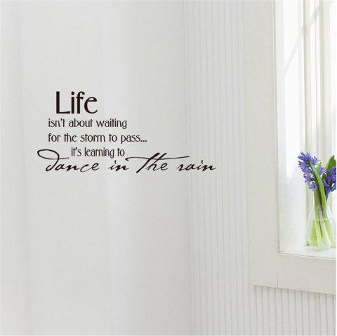 Life Isn'T About Waiting Art Vinyl Mural Home Room Decor Wall Stickers - BLACK 26*57CM