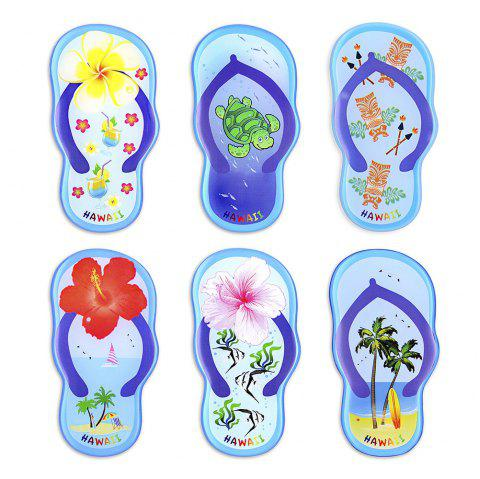 Blue Slippers Series 6 Silicone Magnetic Fridge Magnets - SEA BLUE 6PCS