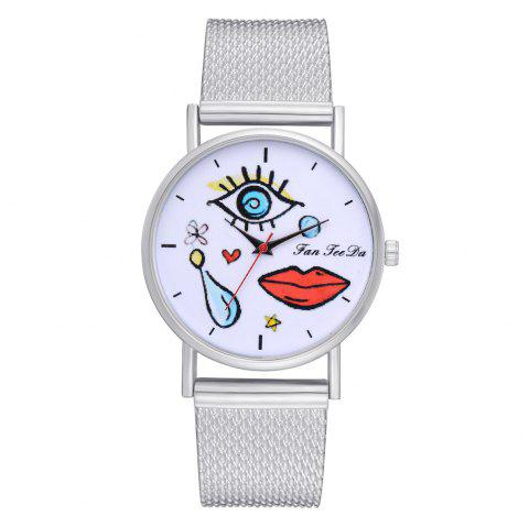Popular Leisure Ultra-Thin New Silicone Watch Brand Fashion Ladies Watch - SILVER