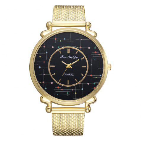 Quartz Watch Fashion Ladies Leisure Brand Fashion Silicone Watches - GOLD