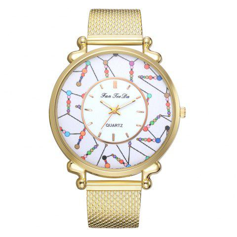 Ms New Silicone Watch Brand Series Quartz Watch Business and Leisure Travelers - GOLD