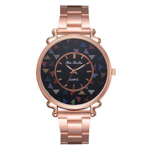 The New Brand Watch Hot Style Fashion Lady Rose Gold Steel Band Watch - ROSE GOLD