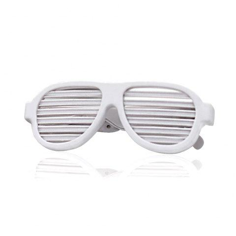 LED  Creative Shutter Lighting Color Voice-Activated Glasses - WHITE