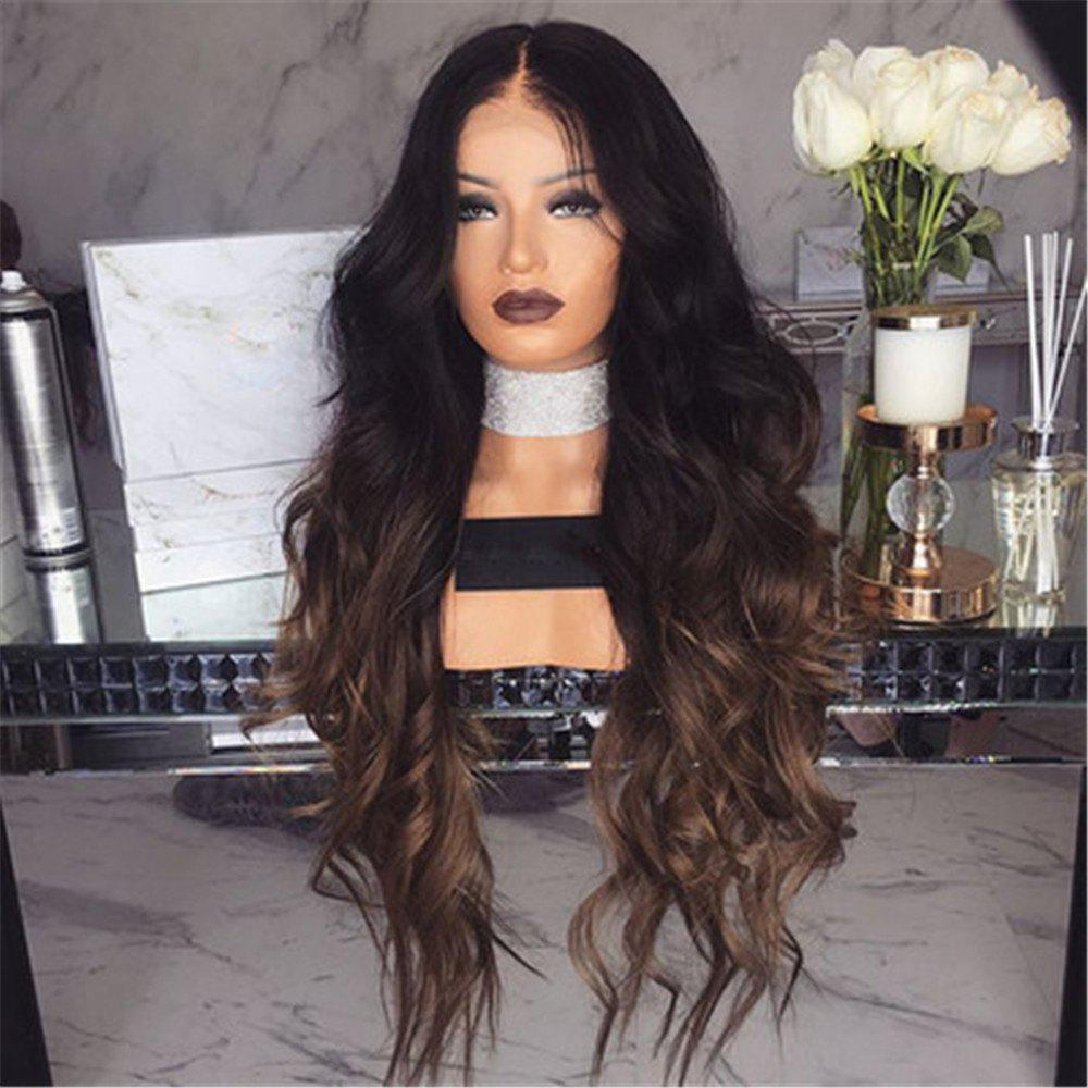 Female Wig with Long Curly Hair and Large Wavy Gradient - BLACK 28 X 17 X 5CM