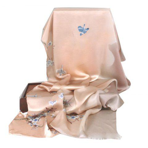 Silk Scarf Silk Scarf Chinese Wind ShawlFor WomenInAutumn And Winter - DEEP PEACH
