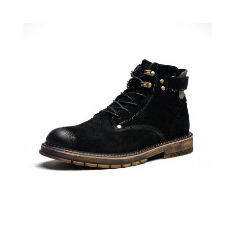 Autumn High Boots Men'S Desert Boots in The British Boots - BLACK EU 39