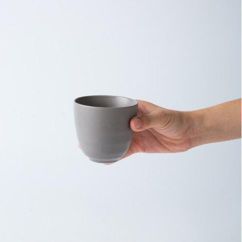 Modern Style Ceramic Cup Drinkware tea cup - LIGHT GRAY