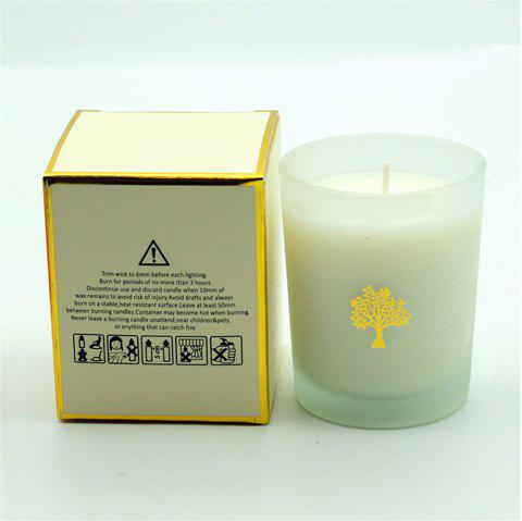 Glasses Scented Candle Wedding Handmade Gift Natural Soy Romantic Candles - WARM WHITE