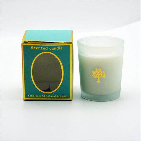 Glasses Scented Candle Wedding Handmade Gift Natural Soy Romantic Candles - LIGHT SEA GREEN