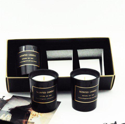 3Pcs Natural Soy Candles Fragrance Candles Wedding Gift Aromatherapy Candle - BLACK
