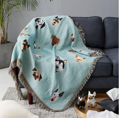 Lovely Dogs Pattern Blanket sofa decorative slipcover Non-slip Stitching Blanket - multicolor A 90*150CM