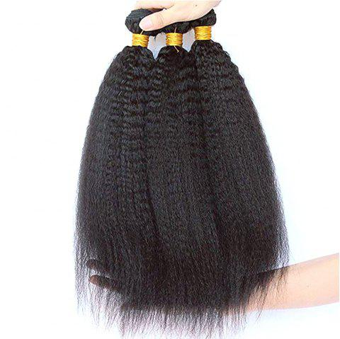 Extension de cheveux Yavida Yaki Straight Hair Weave 3 Bundles - Noir Naturel 16INCH X 18INCH X 20INCH