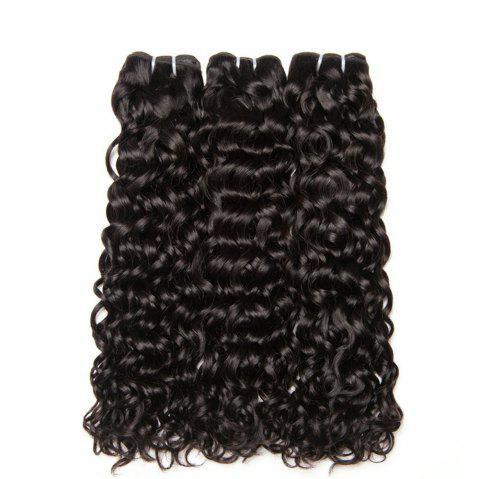 Peruvian Curly Hair Bundles Wet and Wavy Human Hair Weave Bundles - NATURAL BLACK 16INCH X 16INCH X 16INCH